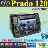 Car DVD Player  GPS Navigation TOYOTA PRADO 120 (2002-2009)  LANDCRUISER  Land Cruiser 120 (ARAB) + 3G internet  Free Shipping