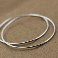 Brief 925 pure silver pure silver earrings big hoop earrings 45 50 55mm measurement
