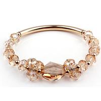 Quality crystal bracelet female fashion 925 pure silver k gold