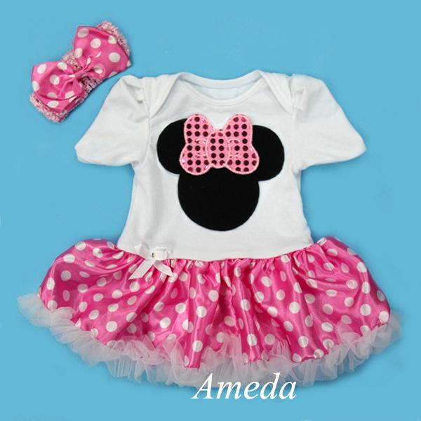Vestidos de Minnie Mouse rosado - Imagui