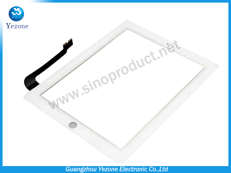 HK Post Free Shipping For Apple Ipad 4 Gen Compatible Touch Screen Digitizer Lens White ,100% Original New(China (Mainland))