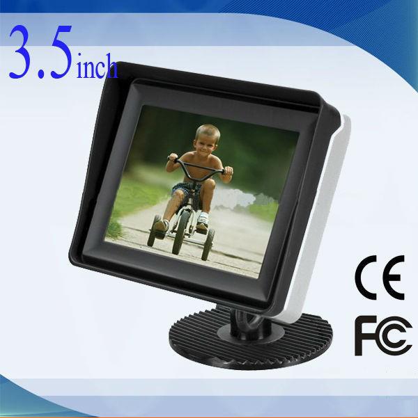 3.5 inchDigital TFT LCD Car Monitor+night vision 120 degree Rearview Car Camera CMOS hd camera parking line system(China (Mainland))