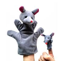 20 set / lot Parent-child animal mouse puppet education toys plush toy free shipping