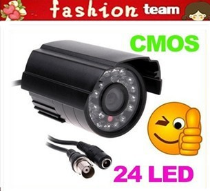 IR Infrared 24 LED Night View CMOS Color CCTV Security Surveillance Camera PAL Freeshipping Dropshipping wholesale(China (Mainland))