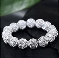 Yashow Jewelry,Shamballa Bracelets, Top Quality Shamballa Bracelet Micro Pave CZ Disco Ball 10mm Bead Shamballa Bracelet SHB0046