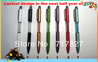 Wholesale 50pcs/lot New Arrival Crystal Touch Screen Pen Free Shipping Muti-color Options 100% Quality Assurance