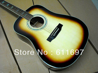 2013 new arrival + free shipping + builder + M D forty five s folk acoustic guitar , fishman is optional fire-bird acoustic one