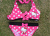 wholesale 5set/lot hello kitty 2-9 years swimsuit girs kids beach wear lovely dot girls character swim wearshipping/y52