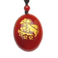 Red stone mascot pendant