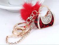 Free shipping 2013 fashionKorean high-grade car and fur  key chain bag pendant accessories