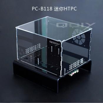 Mini htpc pc-b118 transparent computer case acrylic computer case personality computer case