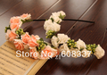 Free Shipping,17CM Korean Bridal flower garlands foam Rose pink  flower head band wreaths Hawaii garlands