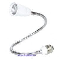 E27 to E27 50cm LED Halogen Gooseneck Adapter Light Bulb Lamp Base Extend Extension Converter Twist