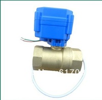 "motorized ball valve 3/4"" DN20.2 way 12V. electrical valve  /freeshipping"