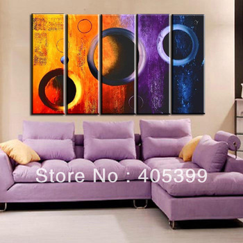 Free Shipping !! Modern Abstract Oil Painting On Canvas Wall Art ,5PCS Set Painting ,Home Decoration Gift JYJHS018