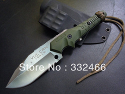 Top Qualtiy !!FREESHIPPING+Crusader Forge fixed blade Knife with G10 Handle 154 steel Bowie Hunting Knife(China (Mainland))