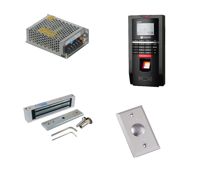 Free ship by DHL ,Finger access control kit , finger access control +power+180kg magnetic lock+exit button,sn:F20_3(China (Mainland))