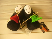 The Japanese cartoon Potter faceless men knitting Ghibli Hayao Miyazaki 1000 and Chihiro plush doll ornaments