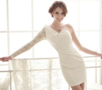 Shoulder Long Sleeve Dress on Silk Pencil Off Shoulder Dress 2013 Long Sleeve Sexy New Stylish Women