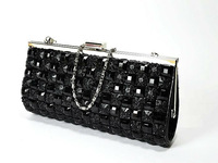 New mini crystal chain grid purse handbag shoulder bag