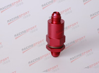 Billet Fuel Filter AN 8 AN8 -8 30 Micron filter FF-2502 Red Aluminum