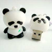 Free Shipping Cartoon Panda USB Flash Pen Drive Rubber 8GB 16GB 32GB 64GB