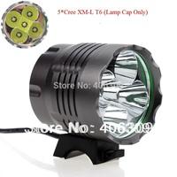 Super Bright 5xCREE XM-L T6 5200LM LED Bike Light Lamp(Only Lamp cap)  +Free Shipping