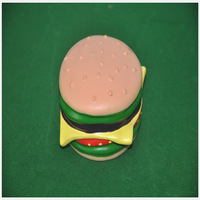 Free shipping  cheap dog toys plastic hamburger toy wholesale pet toy