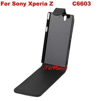 Free Shipping Cell Phone Case Mobile Phone Pouch PU Case For  Sony Xperia Z L36H C6603 C6602 C6606