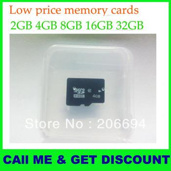 32GB16GB 8GB 4GB 2GB micro sd card memory card class 4 high quality free shipping