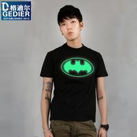 batman superman t shirt 2013 men's clothing t-shirt batman luminous clothes short-sleeve T-shirt