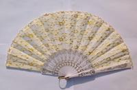 Chinese style fan japanese style folding fan women's fan double layer lace fan dance fan