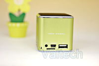 Colorful New angel A08 Mini music speaker sound box + LED Screen, Portable stereo cellphone Speaker &amp; 200pcs DHL