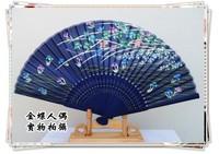 Japanese style silk screen folding fan kimono fan gift fan silk female fan bamboo handle fan bamboo fan