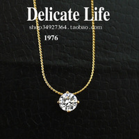 Sparkling hearts and arrows cubic zircon necklace female short design chain accessories f2303