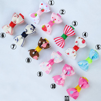 free shipping Child hair accessory hair accessory hairpin baby hair clips all-match small bow hairpin single