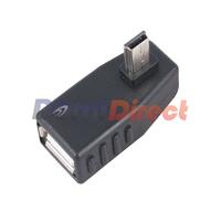 USB 2.0 to mini 5 Pin Female  to male 90degree