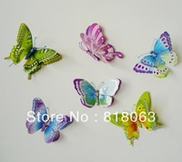 Free Shipping Child room decoration 3d artificial butterfly wall stickers butterfly