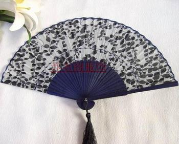 Suzhou silk fan japanese style fan women's folding fan rib double fan business gift