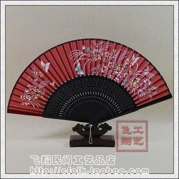 Hand painting fan folding fan silk fan dance props business gift folding fan women's japanese style