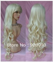 free P&P******* new blonde long women curly real hair women,girl cosplay,party lady's wigs