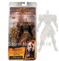 "Free Shipping NECA God of War 3 Kratos with Flaming Blades of Olympus 7"" Action Figure Toy"