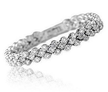 2013 New Arrival full star super shiny zircon crystal 925 sterling silver ladies bracelets jewelry wholesale price
