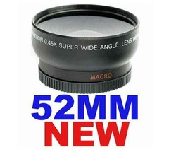 52mm 0.45x Wide Angle Lens for Nikon D3000 D7000 D90 + Shipping Free(China (Mainland))