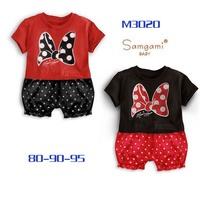 Diseny female child dot pants style romper short-sleeve romper