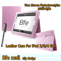 Pink Color Clip Design Leather Case For The New iPad 4 Smart Cover 3 2 Gen Sleep and Stand Fold Smart Cover