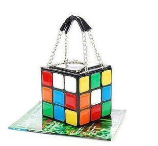 Free Shipping 1pcs/Lot Women's Hot Cute Magic Cube Bag Handbag Purse Korean Fashion Handbags S020