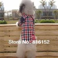 Pet Clothes Handsome Plaid Shirt For Teddy,Pomeranian,Maltese And Shetland