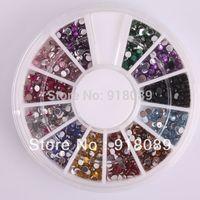 New Free Shipping Wholesale/ Nails Supplier, 5 Wheels 3D Polymer Rhinestone UV Gel Polish DIY Acrylic Nail Art Maniture Tool 07#