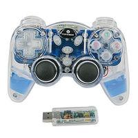 NEW 2.4G 10 meters Aqua flash pc wireless joystick PC gamepad double rocker,Freeshipping